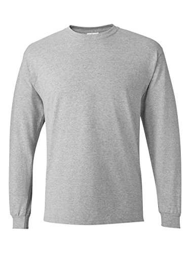 33cb7298ef6 Hanes Men s Long Sleeve Nano Cotton Premium T-Shirt Pack of 2