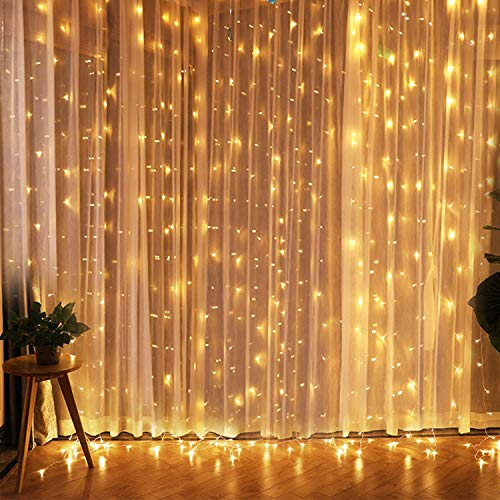 Slashome Window Curtain Lights,29V 600 LED 19.8X9.8 Feet